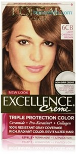 ihocon: L'Oréal Paris 染髮劑Excellence Créme Permanent Hair Color, 6CB Light Chestnut Brown