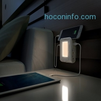 ihocon: AUKEY Night Light Lamp with 4 AC Outlets and 2 USB Ports