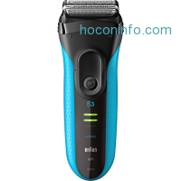 ihocon: Braun Series 3 ProSkin 3040s Men's Electric Razor / Electric Shaver, Rechargeable, Wet & Dry, Blue
