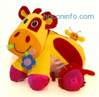 ihocon: Giggle Toys Patches The Huggable Cow, Yellow
