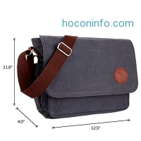 ihocon: OXA 12-Inch Canvas Messenger Bag
