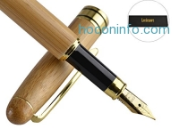 ihocon: Natural Handcrafted Bamboo Fountain Pen Set竹製鋼筆禮盒