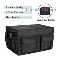ihocon: MIU COLOR Foldable Cargo Trunk Organizer with Cover + FREE Car Cooler