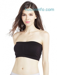 ihocon: Women's Strapeless Removeble Padded Bandeau Contour Bra