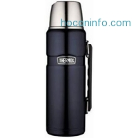 ihocon: Thermos Stainless Steel King 40 Ounce Beverage Bottle, Midnight Blue