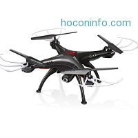 ihocon: Cheerwing Syma X5SW-V3 FPV 2.4Ghz 4CH 6-Axis Gyro RC Headless Quadcopter Drone UFO with HD Wifi Camera (Black)空拍機