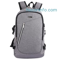 ihocon: OXA Backpack for Laptops Up To 15.6 Inch, With USB Charging Port and Lock電腦背包