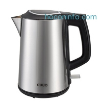ihocon: OUUO Cordless Stainless Steel Double Wall Electric Water Kettle 1.9 quart