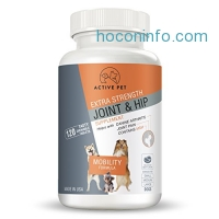 ihocon: ActivePet Extra Strength Hip and Joint Mobility Formula Pet Supplement With MSM, Glucosamine and Chondroitin Antioxidant, 120 Chewable Tablets寵物關節保養
