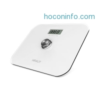 ihocon: HIRALIY Battery Free Precision Digital Bathroom Scale with LCD Display and Step on Technology(White)