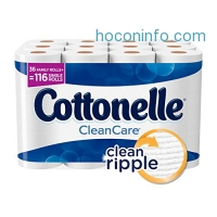 ihocon: Cottonelle CleanCare Family Roll Toilet Paper (Pack of 36 Rolls), Bath Tissue