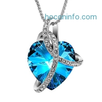ihocon: SIVERY Love Heart Made with Swarovski Crystals Necklace水晶項鍊
