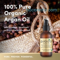 ihocon: PURA DOR Organic Moroccan Argan Oil 100 Percent Pure Cold Pressed and USDA Organic Anti-Aging For Face, Hair, Skin and Nails, 4 Fluid Ounce