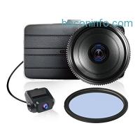 ihocon: KDLINKS DX2 Full-HD 1080P Front + 720P Rear 290° Super Wide Angle Car Dash Cam with G-Sensor & WDR Superior Night Mode, 1 Year Dashcam Warranty超廣角行車記錄器