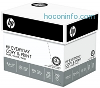 ihocon: HP Paper, Everyday Copy and Print Poly Wrap, 20lb, 8.5 x 11, Letter, 92 Bright, 3000 Sheets / 4 Bulk Ream Case (200030C) Made In The USA