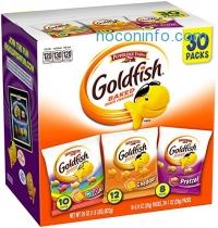ihocon: Pepperidge Farm Goldfish Variety Pack Classic Mix, (Box of 30 bags)小魚餅乾