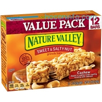 ihocon: Nature Valley Cashew Sweet & Salty Nut Granola Bars 12 Piece Box, 14.8 Ounce