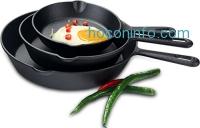 ihocon: Utopia Kitchen - Pre Seasoned Cast Iron Skillet - 6 Inches, 8 Inches and 10 Inches鑄鐵鍋