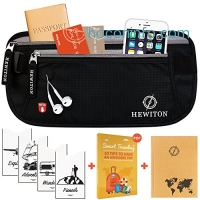 ihocon: [RFID Protected] Hewiton Premium Travel Belt 安全腰包(BONUS: 4 RFID Card Sleeves & A6 Sized Notebook)