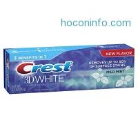 ihocon: Crest 3D White Whitening Toothpaste, Mild Mint Flavor, 3.5 Ounce Tube