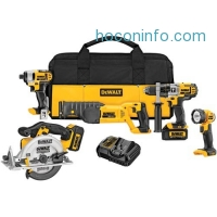 ihocon: DEWALT DCK592L2 20V MAX Premium 5-Tool Combo Kit