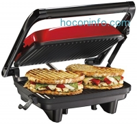 ihocon: Hamilton Beach 25462Z Panini Press Gourmet Sandwich Maker