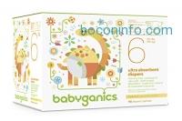 ihocon: Babyganics Ultra Absorbent Diapers Economy Pack, Size 6, 116 Count