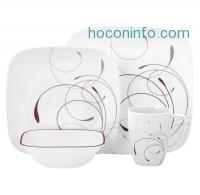 ihocon: Corelle Square 16pc Dinnerware Set Splendor Red康寧餐盤組
