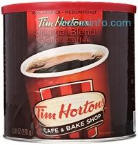 ihocon: Tim Hortons 100% Arabica Medium Roast Original Blend Ground Coffee, 32.8 Ounce