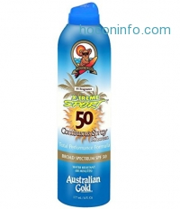 ihocon: Australian Gold X-treme Sport SPF 50 Continuous Spray Sunscreen, Total Performance Formula, 6 Fl Oz