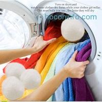 ihocon: Yazer Wool Dryer Balls, 10 Pieces衣物乾燥/柔軟羊毛烘衣球