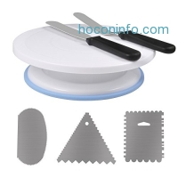 ihocon: Ejoyous 11 Inch Cake Decorating Turntable with Decorating sets, Scraper Combs (3pcs),2 Icing Spatula
