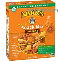 ihocon: Annie's Organic Cheddar Snack Mix, Baked Cheese Crackers and Pretzels, 9 oz Box (Pack of 4)