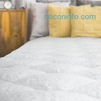 ihocon: Cooling Mattress Pad with Fitted Skirt - Extra Plush Heat Extracting Topper - Made in the USA, King