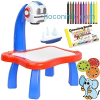 ihocon: 7TECH Drawing Projector Painting Desk 兒童繪圖桌 + 投影片 + 彩色筆