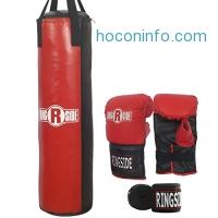 ihocon: Ringside 50 lb Adult Boxing Heavy Punching Bag Kit 拳擊練習組