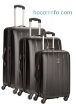 ihocon: Delsey Luggage Volume Dlx Hardside 3 Piece Nested Spinner Luggage Set硬殼行李箱組