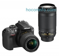 ihocon: Nikon D3400 DSLR Camera with AF-P DX NIKKOR 18-55mm f/3.5-5.6G VR and AF-P DX NIKKOR 70-300mm f/4.5-6.3G ED