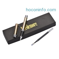ihocon: Leedemore Gold Trim Ballpoint Pen, Extra 1 black ink refill in Gift Box原子筆禮盒
