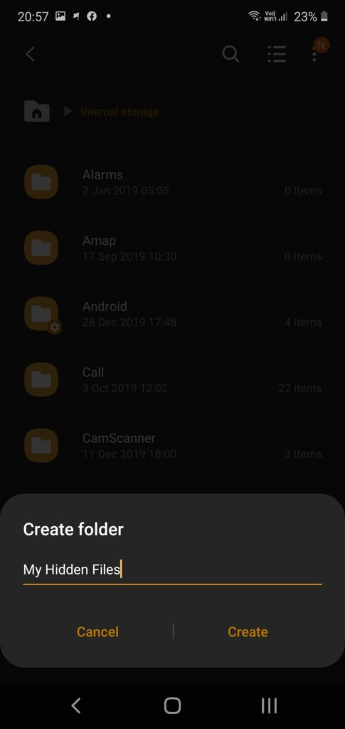Hide any file on android without any app