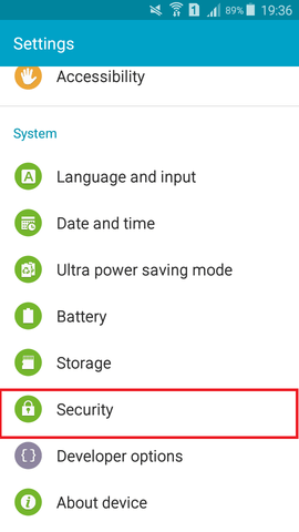 android security option