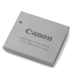 Canon NB-4L Lithium-Ion Digital Camera Battery