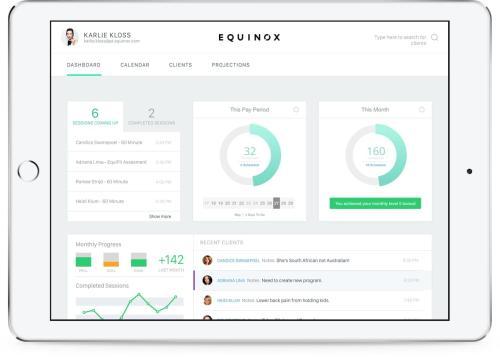 equinox fitness app