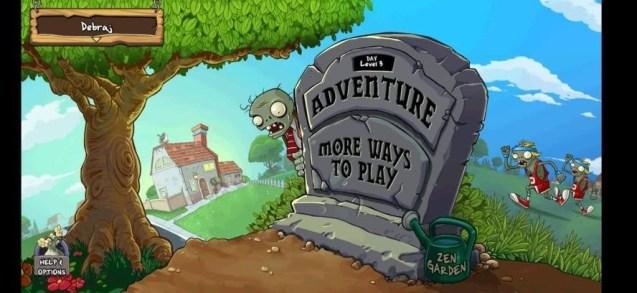 adventure game plants vs zombies