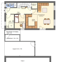 Badezimmer Grundriss Rechteckig   minimalistisches Interieur