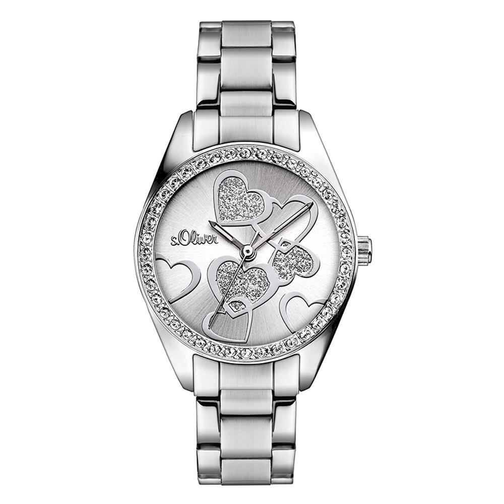 sOliver Damen UhrArmbanduhr aus Edelstahl SO2857MQ