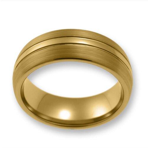 Herren Ring aus WolframTungsten ohne Steingold TW01303