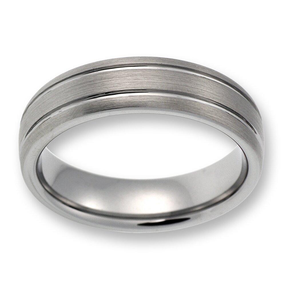 Herren Ring aus WolframTungsten ohne Steinsilber TW02501