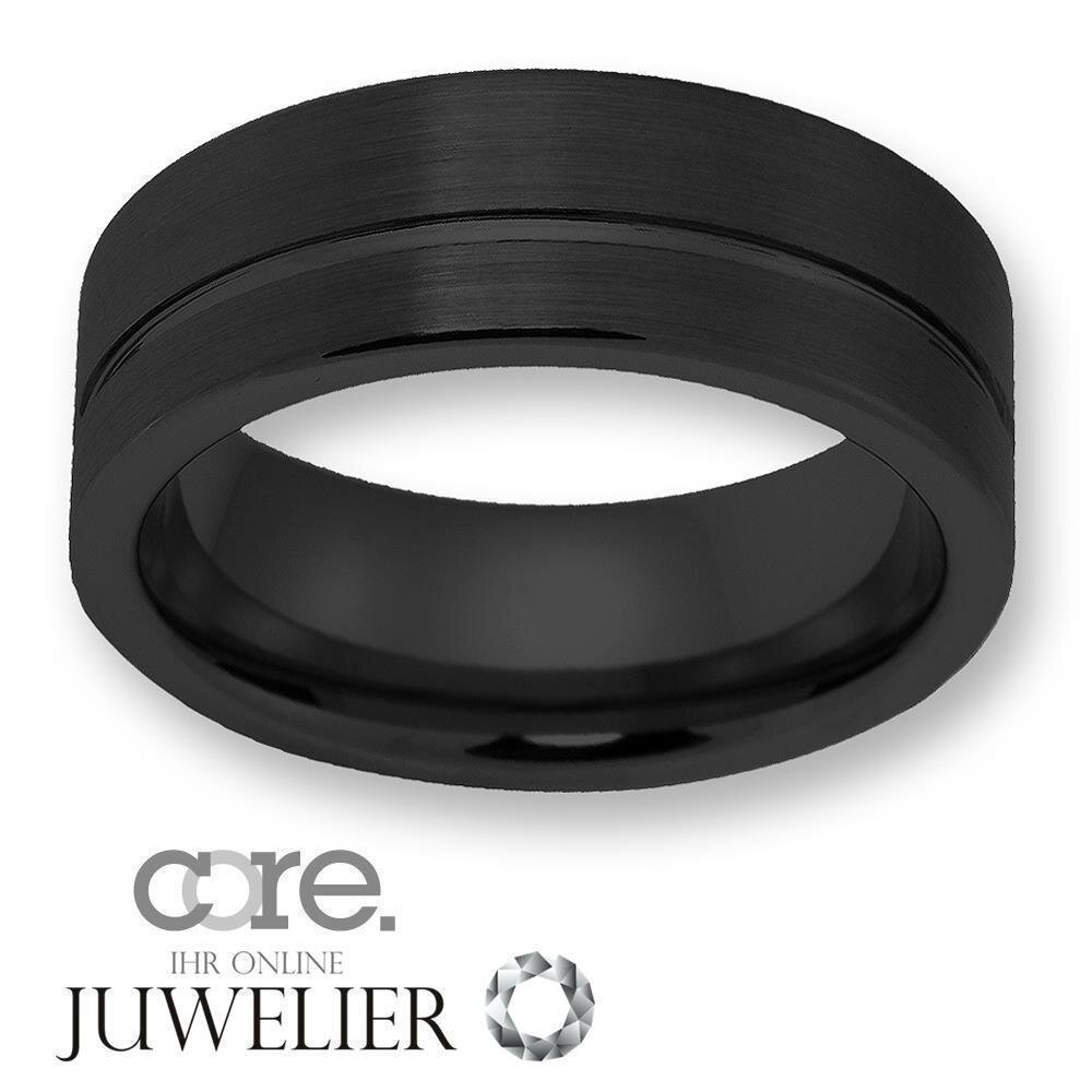 Herren Ring aus WolframTungsten ohne Steinschwarz TW02411