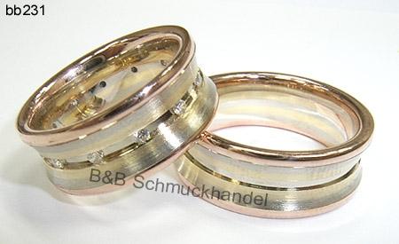 Trauringe  Eheringe Online Shop  tricolor Eheringe bb231